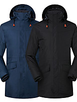 cheap -Men's Hiking Down Jacket Hiking 3-in-1 Jackets Ski Jacket Winter Outdoor Thermal Warm Waterproof Windproof Quick Dry Outerwear Winter Jacket Trench Coat Skiing Ski / Snowboard Fishing Off-white (down
