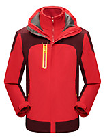 cheap -Men's Hiking 3-in-1 Jackets Ski Jacket Hiking Fleece Jacket Winter Outdoor Thermal Warm Waterproof Windproof Quick Dry Outerwear Winter Jacket Trench Coat Skiing Ski / Snowboard Fishing Men's-Red