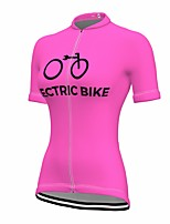 cheap -21Grams Women's Short Sleeve Cycling Jersey Summer Spandex Rose Red Bike Top Mountain Bike MTB Road Bike Cycling Quick Dry Moisture Wicking Sports Clothing Apparel / Stretchy / Athleisure