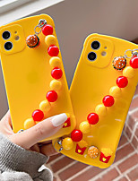 cheap -Phone Case For Apple Back Cover iPhone 12 Pro Max 11 SE 2020 X XR XS Max 8 7 Shockproof Dustproof Food Solid Colored TPU