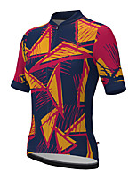 cheap -21Grams Women's Short Sleeve Cycling Jersey Summer Spandex Polyester Black / Red Funny Bike Top Mountain Bike MTB Road Bike Cycling Quick Dry Moisture Wicking Breathable Sports Clothing Apparel