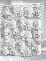 cheap -HD Flower Series Digital Printing Shower Curtain Shower Curtains  Hooks Modern Polyester New Design
