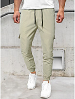 cheap -Men's Casual Pants Loose Daily Pants Graphic Prints Khaki