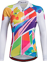 cheap -21Grams Women's Long Sleeve Cycling Jersey Spandex Polyester Red Funny Bike Top Mountain Bike MTB Road Bike Cycling Quick Dry Moisture Wicking Breathable Sports Clothing Apparel / Stretchy