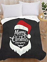 cheap -3d Printed Flannel Blanket Thick Double-layer Blanket Air-conditioning Blanket Air-conditioning Quilt Christmas Style