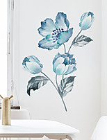 cheap -Floral&Plants Wall Stickers Bedroom / Living Room Removable PVC Home Decoration Wall Decal 1pc 30*90CM