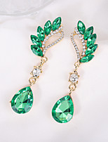 cheap -Women's Cubic Zirconia Earrings Fashion Classic Earrings Jewelry Green For Street 1 Pair