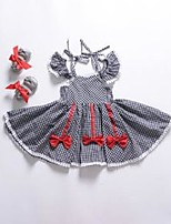 cheap -fashion girls dress children red trailing dress with white lace summer baby girls clothes 3334 q2