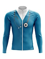 cheap -21Grams Men's Long Sleeve Cycling Jersey Spandex Polyester Blue Green White 3D Funny Bike Top Mountain Bike MTB Road Bike Cycling Quick Dry Moisture Wicking Breathable Sports Clothing Apparel