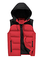 cheap -Men's Fishing Vest Hiking Vest Quilted Puffer Vest Winter Outdoor Thermal Warm Windproof Quick Dry Lightweight Outerwear Trench Coat Top Skiing Ski / Snowboard Fishing Black Red / Breathable