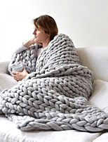 """cheap -cupidhomes luxury chunky knit throw blanket grey 23.6*23.6"""""""