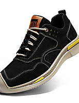 cheap -Men's Sneakers Casual Classic Daily Pigskin Breathable Gray Khaki Black Fall
