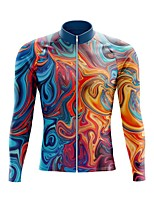 cheap -21Grams Men's Long Sleeve Cycling Jersey Spandex Blue+Yellow Bike Top Mountain Bike MTB Road Bike Cycling Quick Dry Moisture Wicking Sports Clothing Apparel / Stretchy / Athleisure