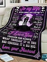 cheap -giftcustom to my wife fleece blanket moon night gift for wife from husband letter to wife gifts idea- one year for wife bedding couch sofa soft and comfy cozy (to my wife 9)