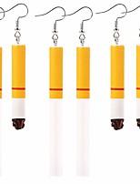 cheap -3 pairs harajuku creative funny cigarette butt drop dangle earrings wacky lifelike cigarette earrings for women girls unisex cool punk jewelry