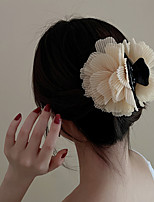 cheap -2 Pcs/set Pearls Fairy Yarn Flowers Acrylic Hair Clip French Forest Girl Heart Hair Accessories Simple And Fresh Fashion Headdress