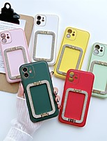 cheap -Phone Case For Apple Back Cover iPhone 12 Pro Max 11 SE 2020 X XR XS Max 8 7 Shockproof Dustproof with Stand Solid Colored TPU
