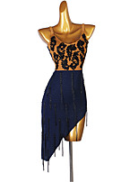 cheap -Latin Dance Dress Crystals / Rhinestones Women's Performance Daily Wear Sleeveless Spandex