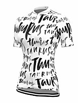 cheap -21Grams Women's Short Sleeve Cycling Jersey Summer Spandex Polyester White Funny Bike Top Mountain Bike MTB Road Bike Cycling Quick Dry Moisture Wicking Breathable Sports Clothing Apparel / Stretchy