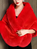 cheap -Sleeveless Elegant / Bridal Faux Fur Daily / Wedding Party Women's Wrap With Solid