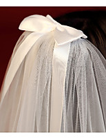cheap -Two-tier Adjustable / Sweet Wedding Veil Blusher Veils / Shoulder Veils with Scattered Crystals Style / Sequin / Solid Tulle