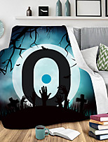 cheap -3D double printed blanket nap cover blanket extra thick air conditioning blanket lazy blanket Halloween collection