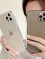 cheap -Phone Case For Apple Back Cover iPhone 12 Pro Max 11 SE 2020 X XR XS Max 8 7 Shockproof Dustproof Transparent Solid Colored TPU