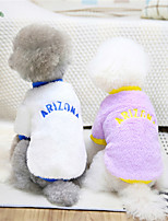 cheap -Dog Cat Sweater Solid Colored Quotes & Sayings Adorable Cute Dailywear Casual / Daily Winter Dog Clothes Puppy Clothes Dog Outfits Warm Purple Pink White Costume for Girl and Boy Dog Cotton S M L XL
