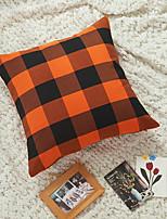 cheap -xuai new halloween pillow, polyester cotton orange black plaid pillowcase, foreign trade home sofa pillow cushion cover