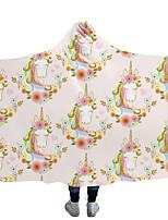 cheap -Magic Cloak Hooded Cloak Blanket Blanket Cloak Children Blanket Double Plush Unicorn