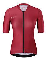 cheap -21Grams Women's Short Sleeve Cycling Jersey Summer Spandex Red Dark Navy Polka Dot Bike Top Mountain Bike MTB Road Bike Cycling Quick Dry Moisture Wicking Sports Clothing Apparel / Stretchy