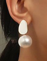 cheap -Women's Drop Earrings Earrings Classic Birthday Simple Romantic Holiday Cool Sweet Pearl Earrings Jewelry White For Party Evening Formal Date Beach Festival 1 Pair