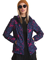 cheap -Women's Hoodie Jacket Hiking Softshell Jacket Hiking Jacket Nylon Elastane Winter Summer Outdoor Camo Thermal Warm Windproof Ultra Light (UL) Warm Outerwear Trench Coat Top Ventilation Zip Skiing Ski