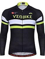 cheap -Men's Long Sleeve Cycling Jersey Summer Spandex Green / Black Bike Top Mountain Bike MTB Road Bike Cycling Quick Dry Sports Clothing Apparel / Athleisure