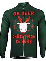 cheap -21Grams Men's Long Sleeve Cycling Jersey Spandex Polyester Green 3D Funny Bike Top Mountain Bike MTB Road Bike Cycling Quick Dry Moisture Wicking Breathable Sports Clothing Apparel / Stretchy