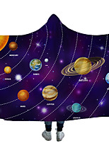 cheap -Magic Hat Blanket Hded blanket cloak thick double layer foreign trade blanket children blanket nap carpet planet