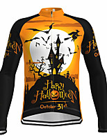 cheap -21Grams Men's Long Sleeve Cycling Jersey Spandex Polyester Yellow Funny Bike Top Mountain Bike MTB Road Bike Cycling Quick Dry Moisture Wicking Breathable Sports Clothing Apparel / Athleisure