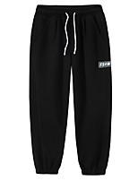 cheap -Men's Sweatpants Running Pants Hiking Pants Trousers Drawstring Winter Summer Outdoor Oversized Windproof Soft Comfortable Beam Foot Elastic Waist Bottoms Grey Black Traveling Winter Sports M L XL