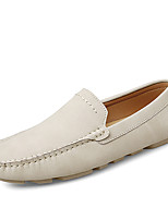 cheap -Men's Loafers & Slip-Ons Comfort Loafers Crib Shoes Drive Shoes Casual Daily Cowhide Breathable Non-slipping Wear Proof Black Brown Beige Fall Spring