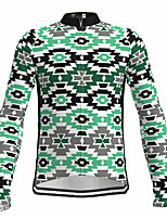 cheap -21Grams Men's Long Sleeve Cycling Jersey Spandex Polyester Green Funny Bike Top Mountain Bike MTB Road Bike Cycling Quick Dry Moisture Wicking Breathable Sports Clothing Apparel / Athleisure