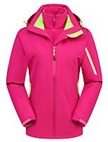 cheap -Women's Hiking 3-in-1 Jackets Ski Jacket Hiking Fleece Jacket Polar Fleece Winter Outdoor Thermal Warm Windproof Quick Dry Lightweight Hoodie Windbreaker Trench Coat Skiing Ski / Snowboard Fishing