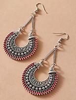 cheap -Women's Earrings Vintage Style Stylish Simple Romantic Modern Korean Earrings Jewelry Silver For Halloween New Baby Sport Prom Promise 1 Pair