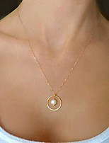 cheap -boho pearl pendant necklace statement long chain choker necklace jewelry for women and girls