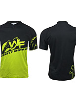 cheap -CAWANFLY Men's Short Sleeve Cycling Jersey Summer Black / Yellow Bike Tee Tshirt Top Mountain Bike MTB Road Bike Cycling Quick Dry Sports Clothing Apparel / Micro-elastic