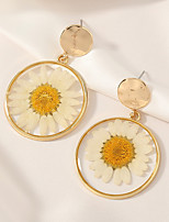 cheap -Women's Earrings Geometrical Floral Theme Earrings Jewelry Golden For Daily Holiday Promise