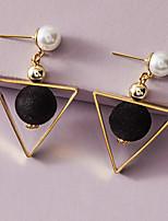 cheap -Women's Earrings Classic Stylish Luxury Elegant Modern Cute Imitation Pearl Earrings Jewelry Black For Wedding Birthday Gift Date Vacation 1 Pair