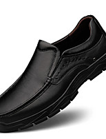 cheap -Men's Loafers & Slip-Ons British Style Plaid Shoes Comfort Shoes Business Casual Daily Office & Career Nappa Leather Handmade Non-slipping Wear Proof Black Brown Fall Winter