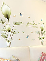 cheap -Flora&Plants Wall Stickers Bedroom / Living Room Removable PVC Home Decoration Wall Decal 1pc 60*90CM