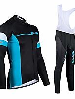 cheap -mens cycling bib shorts gel chamois padded,men's cycling wear, long-sleeved cycling shirt, quick-drying breathable mountain bike shirt, racing cycling wear-blue_xl