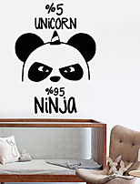 cheap -large wall decal cute panda animal decor for children's rooms vinyl stickers (ig2831) matte black